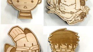 新商品☆木製バッジ